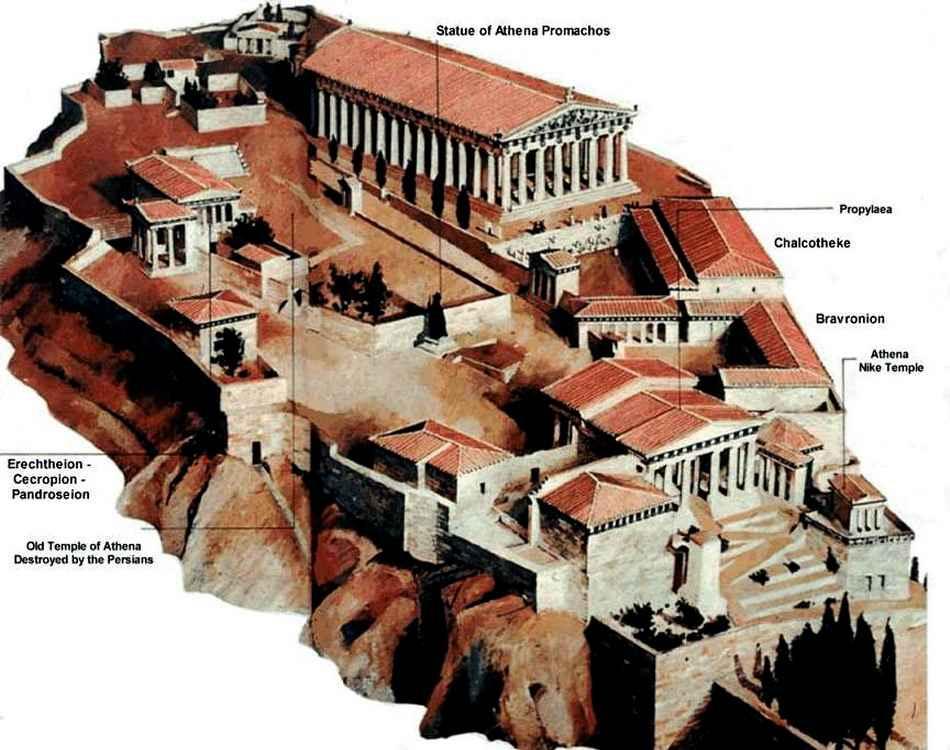 на афинском Акрополе храм,