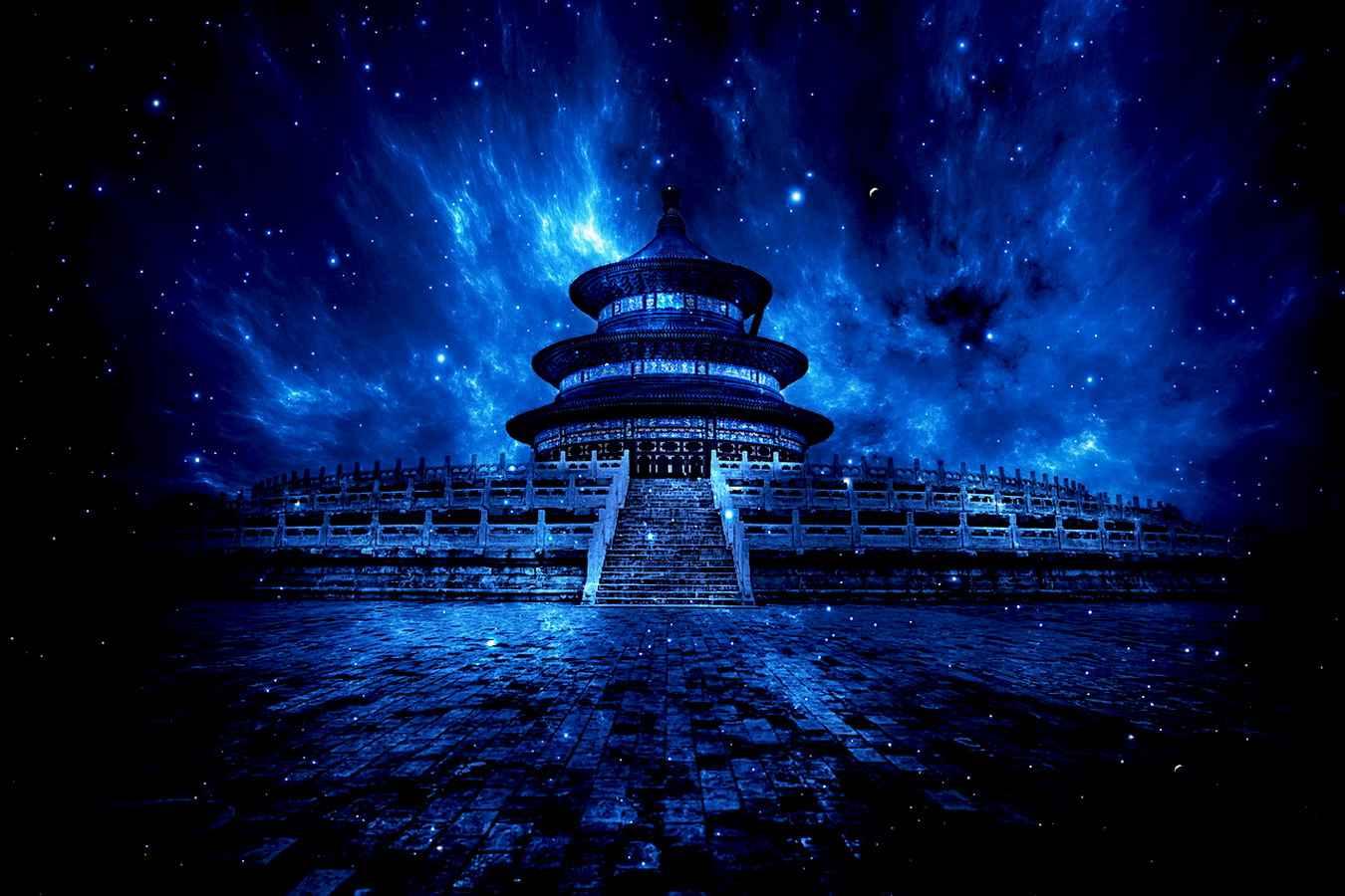 Пекинский храм неба ночью
